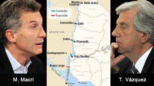 Monitoreo y 2 puentes nuevos, en la agenda de Macri y Tabaré