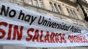 Docentes universitarios harán paro total de actividades
