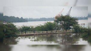 Evacuaron a 22 familias, por la creciente del río Uruguay