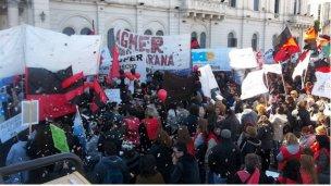 Histórico: las cinco centrales sindicales se reúnen