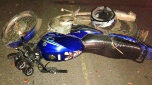 Por una mochila encontraron una moto robada