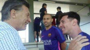 Macri llamó a Messi para que siga en la Selección