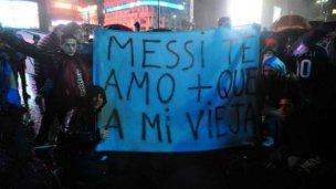 La lluvia también pidió por Messi