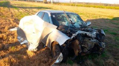 Violento impacto en Ruta 14