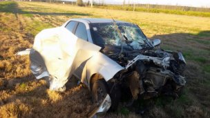 Quedó con la trompa destrozada tras impactar contra un camión
