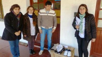 Basavilbaso: Donaron 250 pares de zapatillas