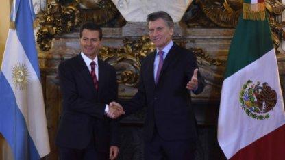 Bordet estuvo junto a Macri y el presidente de México