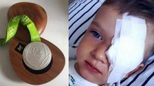 Subasta la medalla que ganó en Río para ayudar a niño con cáncer