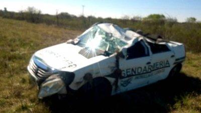 Gendarme fue hospitalizado tras accidentarse en la Autovía 14