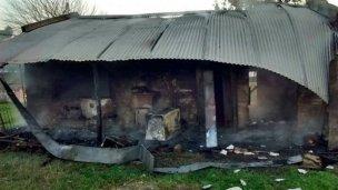 El fuego destruyó una vivienda en Gualeguaychú