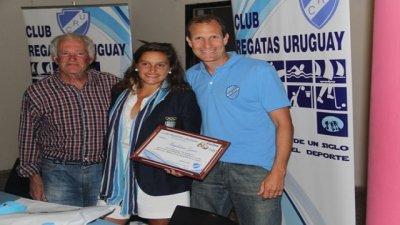 Magui Garro llegó a la ciudad y fue reconocida en Regatas