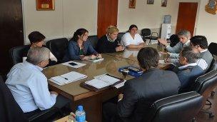 Barberán y Lauritto reunidos para avanzar en temas del sindicato