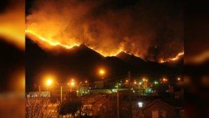 Tras la evacuación, controlaron el incendio