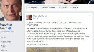 Desde China, Macri destacó obra en Entre Ríos