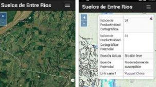 Una App permite evaluar la potencialidad de los suelos entrerrianos