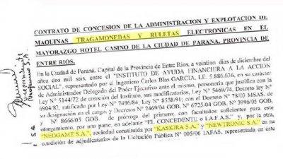 La firma que prestó el Audi explota 1808 tragamonedas en Entre Ríos