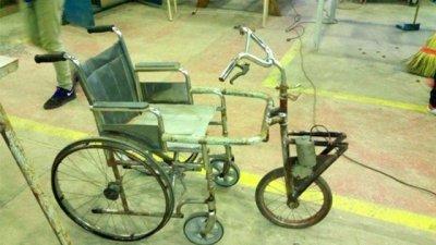 Alumnos entrerrianos construyeron una silla de ruedas a batería