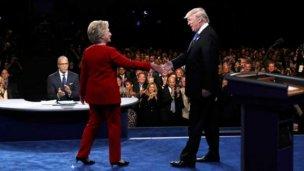 Intenso debate presidencial entre Clinton y Trump