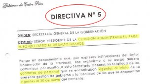 Siete directivas claves del gobierno de Gustavo Bordet