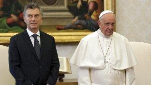 Informal encuentro de una hora entre Macri y Francisco