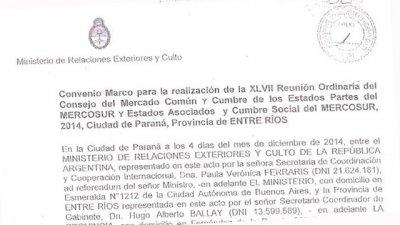 La letra chica del convenio que definió cómo organizar la Cumbre del Mercosur