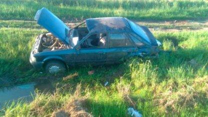 Conducía alcoholizado y volcó