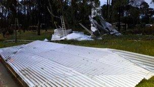 Así quedó Piriápolis tras ser azotada por vientos huracanados