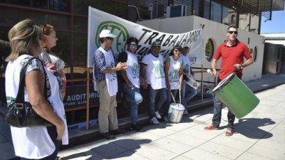 Manifestación de afiliados en Ate