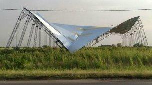La tormenta causó destrozos en el sur de la provincia