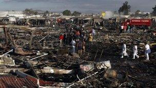 Explotó un mercado de pirotecnia en México: al menos 26 muertos