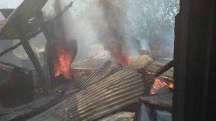 Dos casillas sufrieron por el fuego