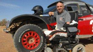 Sin extremidades, intentará completar el Dakar