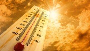 Calor, lluvia y descenso de temperatura