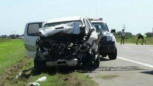Fotos: así fue el choque múltiple en Ruta 14