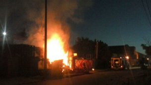 Importante incendio dejó sin luz a vecinos de Gualeguaychú