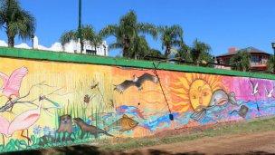 La flora y fauna autóctonas, en un nuevo mural