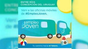Llegó el camión de Ministerio de Trabajo a Plaza Ramírez