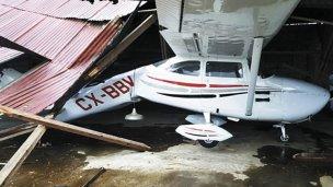 Fuertes vientos provocaron destrozos en el sur del Uruguay