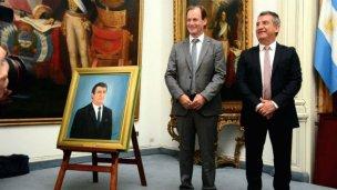 Urribarri tiene su cuadro en el Salón Blanco