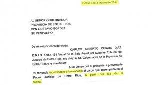 Chiara Díaz elevó su renuncia a Bordet y caería el juicio político