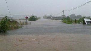 Zonas inundadas en San José