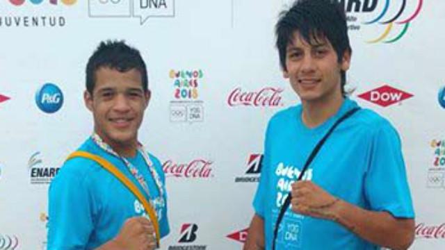 """""""Manojo"""" Romero y Brian Arregui, de Villaguay."""