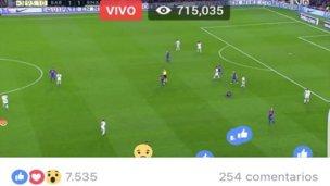 Perfiles de Facebook emiten fútbol pirata en directo
