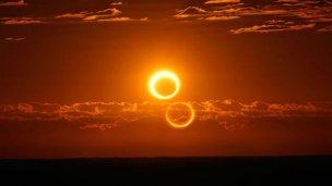 El primer eclipse solar anular cautivó: Así se vio el anillo de fuego