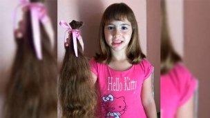 Donó su cabello para que fabriquen pelucas a niños con cáncer