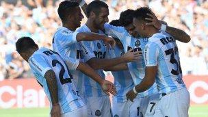 Con un gol y dos asistencias de Bou, Racing goleó a Lanús