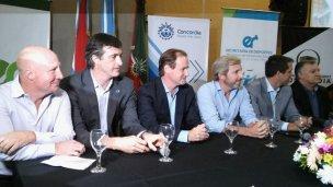 Frigerio, Bordet, Bullrich y Mc Allister están en Concordia