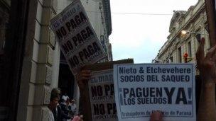 Los trabajadores de El Diario esperan novedades de la Justicia