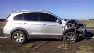 Accidente de tránsito en la autovía