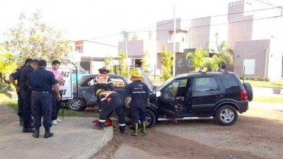 Accidente con dos heridos